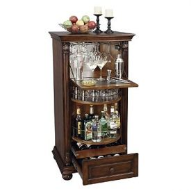 Enlarge Howard Miller 695-078 Cognac Hide-A-Bar Wine & Spirits Cabinet