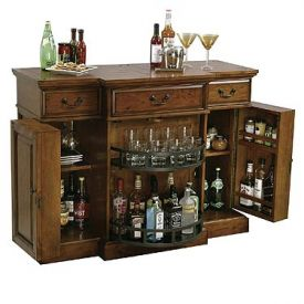 Enlarge Howard Miller 695-084 Shiraz Hide-A-Bar Wine Console