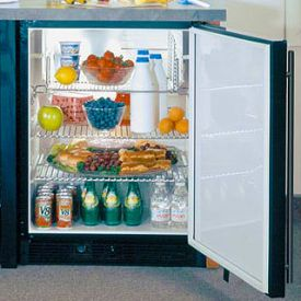 Enlarge Marvel 6ADAM-BB-F ADA All Refrigerator - Black Cabinet w/ Solid Full Wrap Black Door