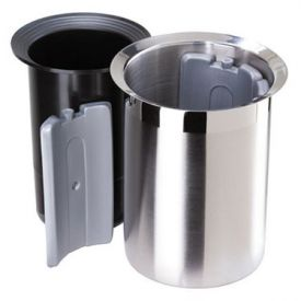 Enlarge Oggi 7040 Dual Tone Stainless Steel Wine Cooler w/Freezer Insert