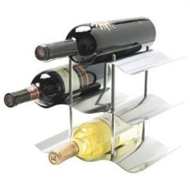 Enlarge Oggi 7095 3-Tier Stainless Steel Wine Rack