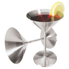 Enlarge Oggi 7108 Stainless Steel 12 oz. Martini Goblet 2 pcs. Set
