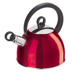 Enlarge Oggi 7188.2 Red Stainless Steel Whistling Kettle