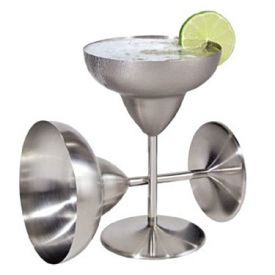 Enlarge Oggi 7202 2 pcs. Stainless Steel Margarita 12 oz. Goblet Set