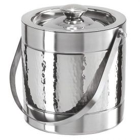 Enlarge Oggi 7235 Hammered Stainless Steel Double-Wall Ice Bucket