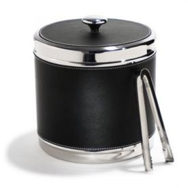 Enlarge Metrokane 7400 VIP Black Faux-Leather Ice Bucket