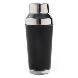 Enlarge Metrokane 7401 VIP Black Faux-Leather Cocktail Shaker