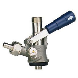 7486e S System Keg Tap Coupler Blue Lever Handle