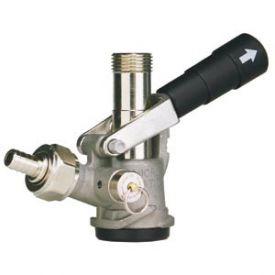 Enlarge 7485E D System Keg Tap Coupler - Black Lever Handle