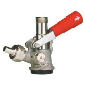 Enlarge 7485E-R - D System Keg Tap Coupler w/ Red Lever Handle