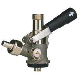 Enlarge 7486E-S - S System Keg Tap Coupler - Black Lever Handle