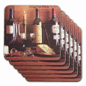 Enlarge Vintage Wine Color Coasters