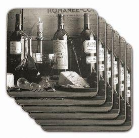 Enlarge Vintage Wine Black & White Coasters