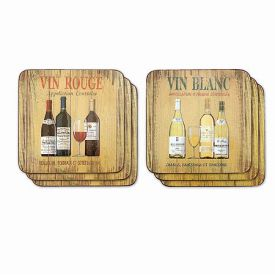 Enlarge Vin Rouge/Vin Blanc Coaster Set