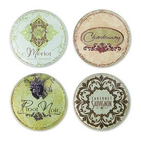 Enlarge Vineyard Glass Coaster Set