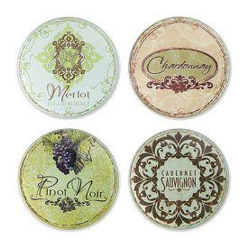 Enlarge Vineyard Glass Coaster Set