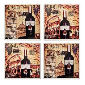 Enlarge Ciao Italia Stoneware Coaster Set