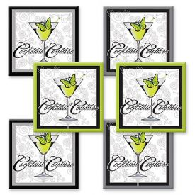 Enlarge Cocktail Couture Coaster Set - Fiberboard