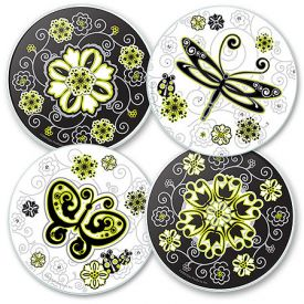 Enlarge Urban Garden Glass Coaster Set