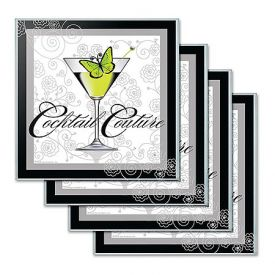Enlarge Cocktail Couture Glass Coaster Set