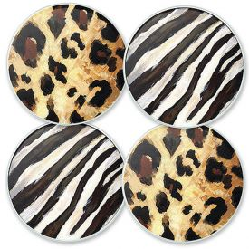 Enlarge Wild Spirits Glass Coaster Set