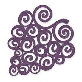 Enlarge Purple Swirled Grapes - Felt Coasters