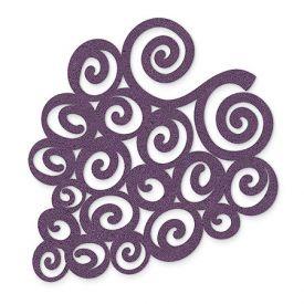 Enlarge Purple Swirled Grapes - Felt Coasters