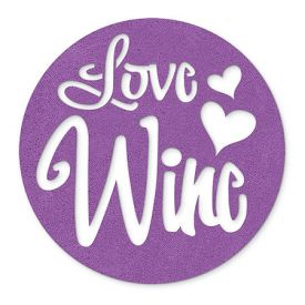 Enlarge Lavender Love Wine - Felt Coasters