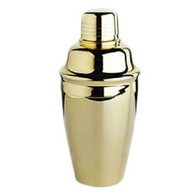 Enlarge Gold-Plated Lustrum 8-oz. Cocktail Shaker Set