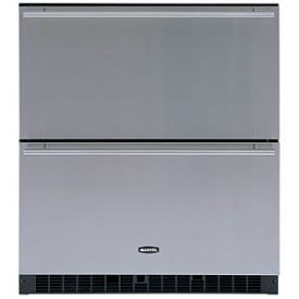 Enlarge Marvel 80RDE-WW-O-WI Sentry Digital Drawer Refrigerator - White/Custom Overlay Door