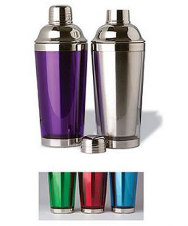 Enlarge Double Wall Stainless Steel Cocktail Shaker - Purple