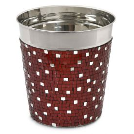 Enlarge Alluring Red Mosaic Champagne / Ice Bucket