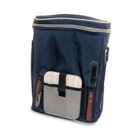 Enlarge Dark Blue Triple Bottle Wine Duffel