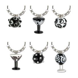 Enlarge Contempo My Glass� Wine Charms