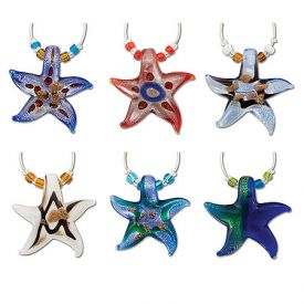 Enlarge Starfish My Glass� Wine Charms