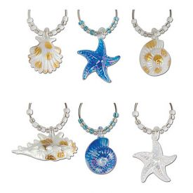 Enlarge Seashore My Glass Wine Charms