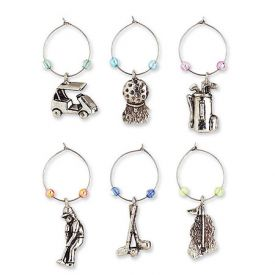 Enlarge Nineteenth Hole My Glass� Wine Charms