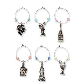 Enlarge A Glass A Day My Glass� Wine Charms