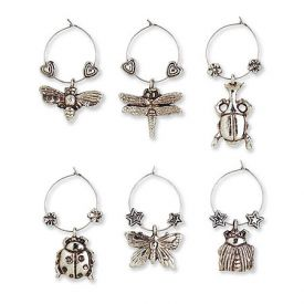 Enlarge I Gotta Buzz My Glass� Wine Charms