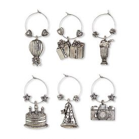 Enlarge Birthday Bash My Glass� Wine Charms