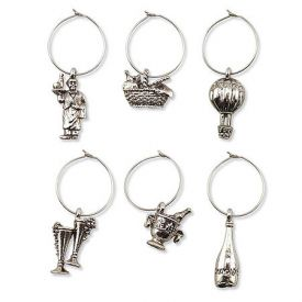 Enlarge Vintage My Glass� Wine Charms