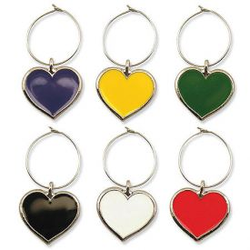 Enlarge Color My Heart My Glass� Wine Charms