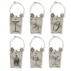 Enlarge Wine & Spirits My Glass� Wine Charms