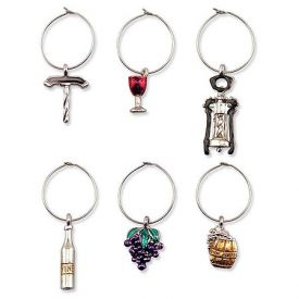 Enlarge Wine Icons My Glass� Wine Charms