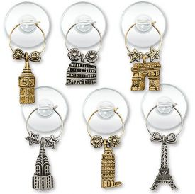 Enlarge Big City Suction Cup My Glass® Wine Charms
