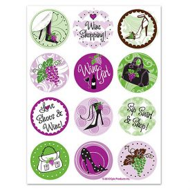 Enlarge Wine Boutique Glass Stick'ems� Wine Tags
