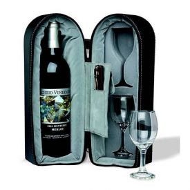 Enlarge Wine Travel Case with Capitano Corkscrew and Foil Cutter