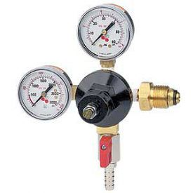Enlarge 842N - Double Gauge - Nitrogen Beer Regulator - with Shut-Off Valve