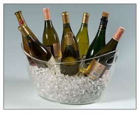 Enlarge Colossus 8-Bottle Clear Acrylic Oval Bucket
