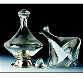 Enlarge Orbital Wine Decanter with Silver Plated Base & Crystal Stopper